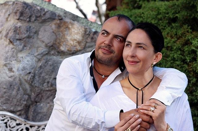Das Paar liebt sich