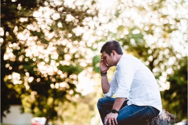 Männer und Trennungsschmerz
