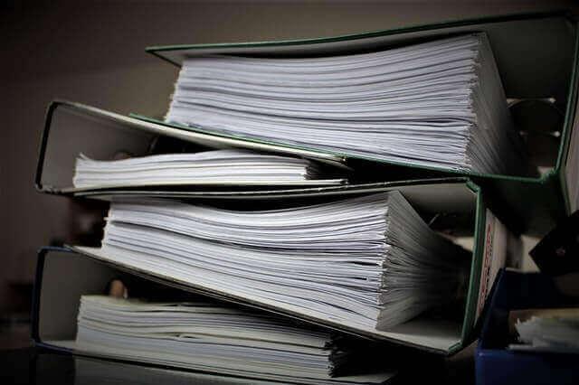 Dokumente und Unterlagen sortieren