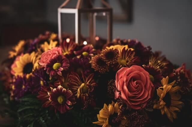 Ein Blumenstrauß von deinem Mann